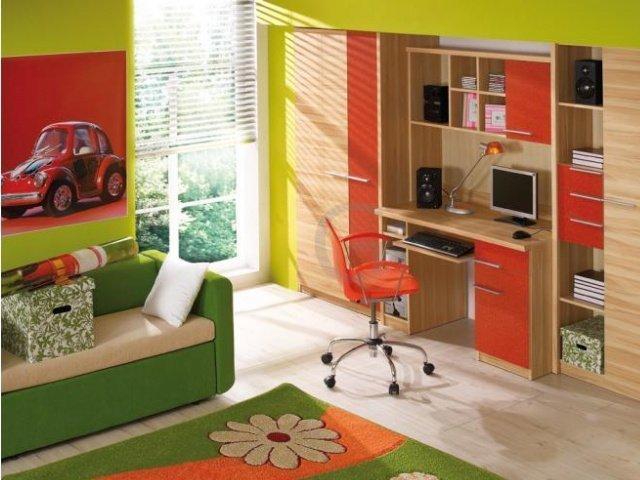 червоні меблі в дитячу кімнату
