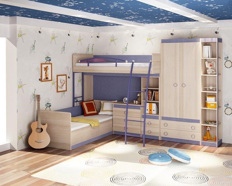 Дитяча з двохповерховим ліжком