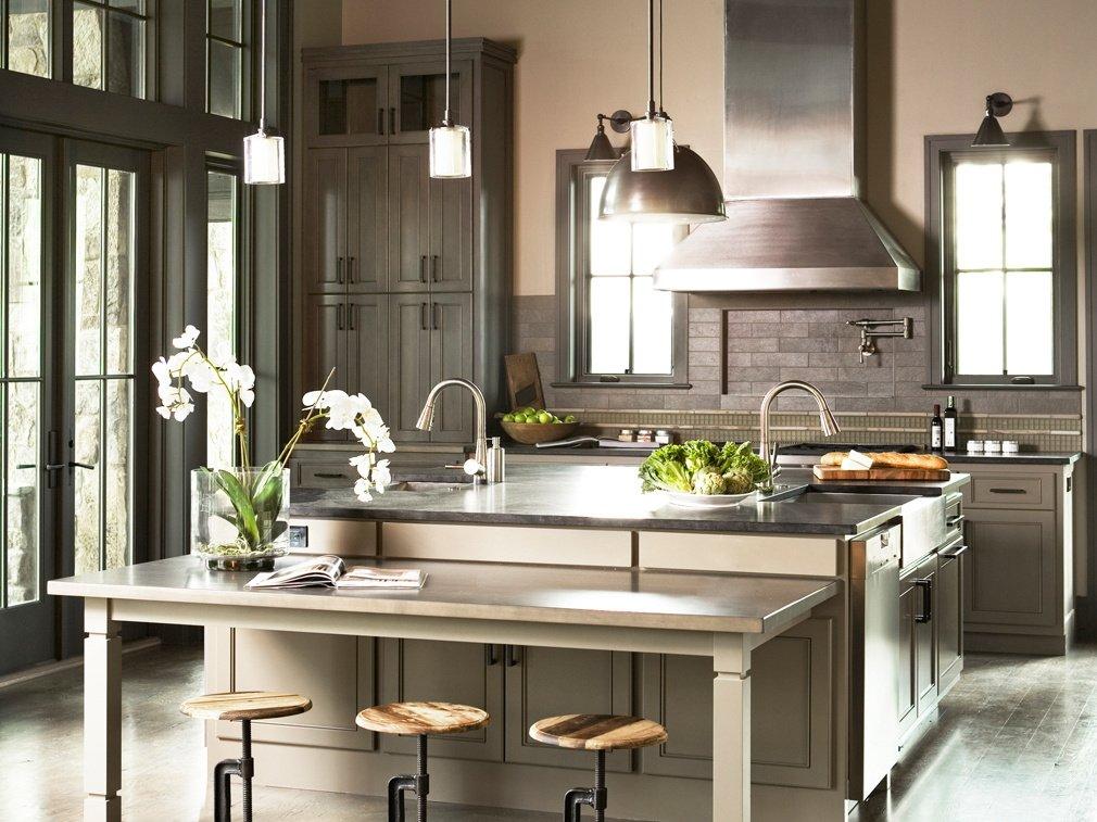 Кухні на замовлення сіра металік фото