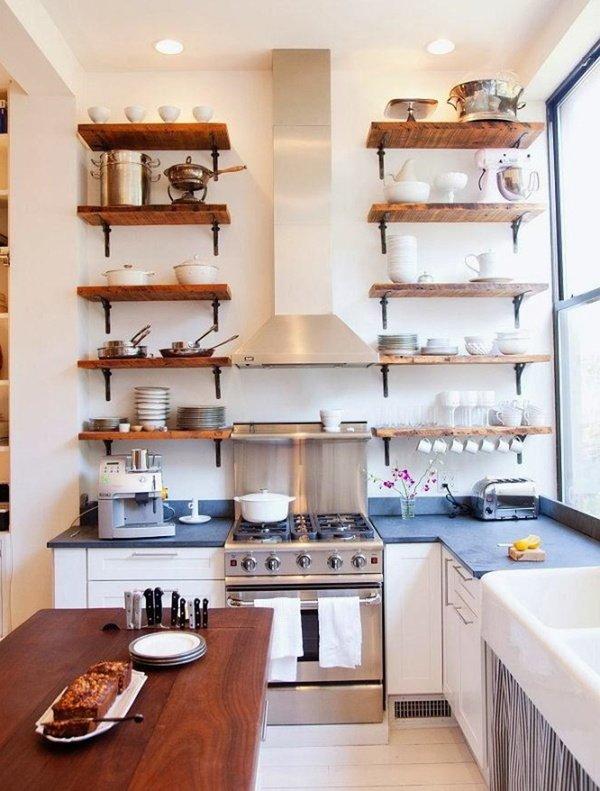 маленькі кухні стелаж