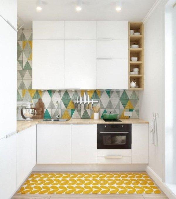 маленькі кухні до стелі
