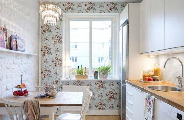 кухні з цегляноб стіною