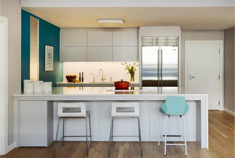 Біло-синя кухня