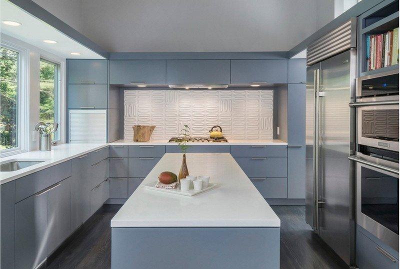 Кухня голуба з островом