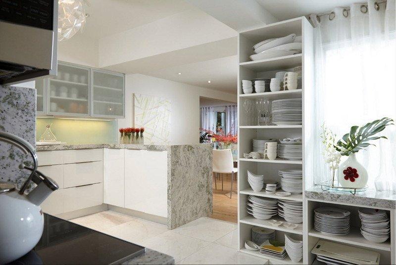 Біла кухня хай-тек