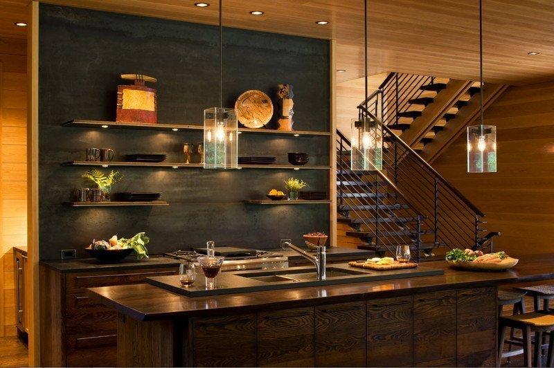 Кухня сіро-коричнева