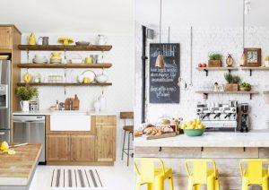 кухня з відкритими полицями