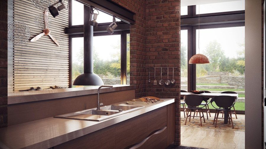 Кухня в стилі лофт фото кухні.If-4