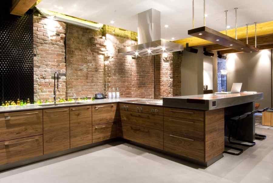 Кухня в стилі лофт фото кухні.If-5