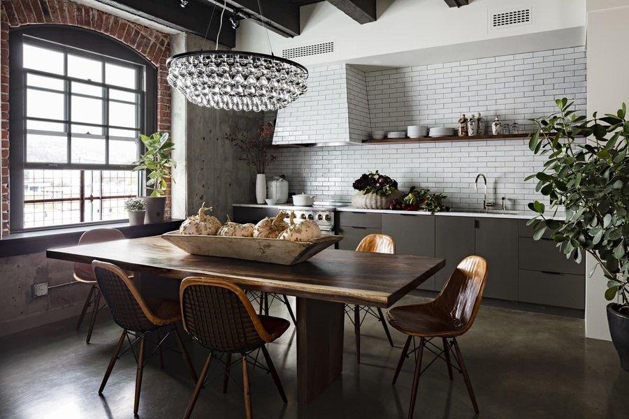 Кухня в стилі лофт фото кухні.If-6