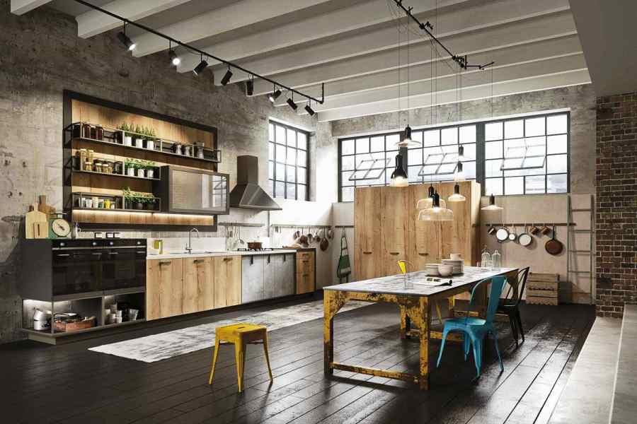 Кухня в стилі лофт фото кухні.If-7