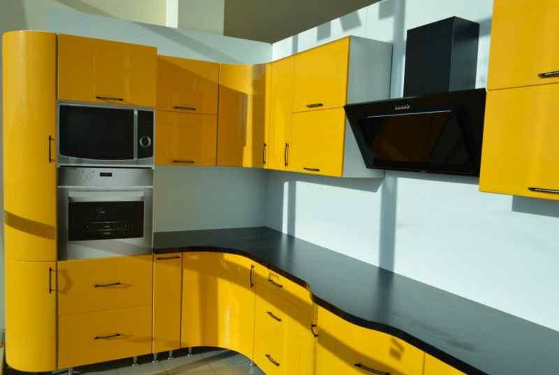 Кутові кухні на замовлення фото Кухні.IF-18