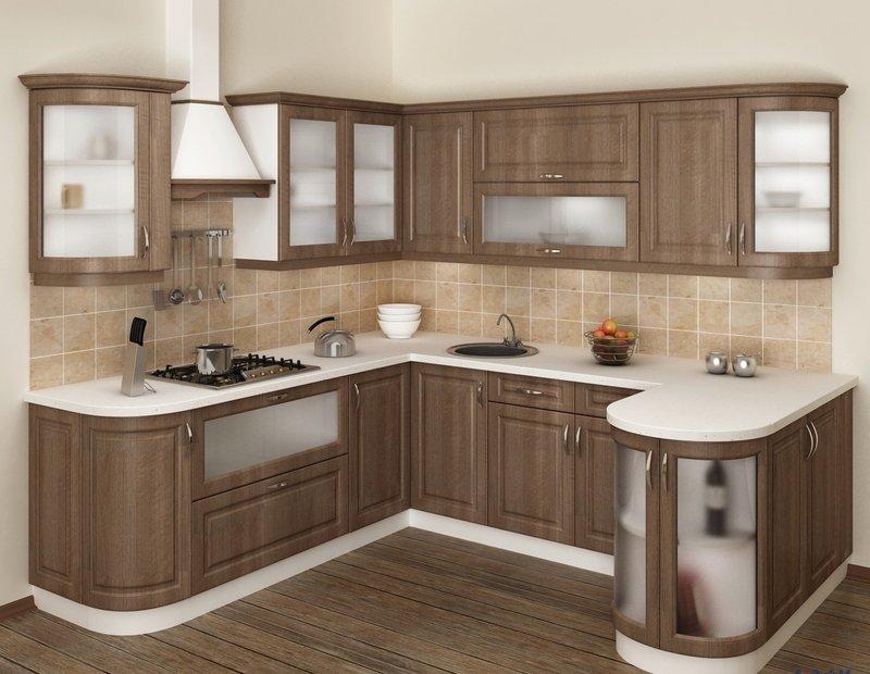 Кутові кухні на замовлення фото Кухні.IF-19