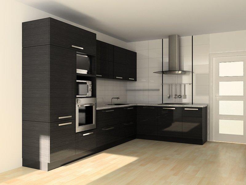 Кутові кухні на замовлення фото Кухні.IF-21