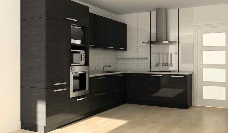 Кутові кухні на замовлення фото Кухні.IF-27