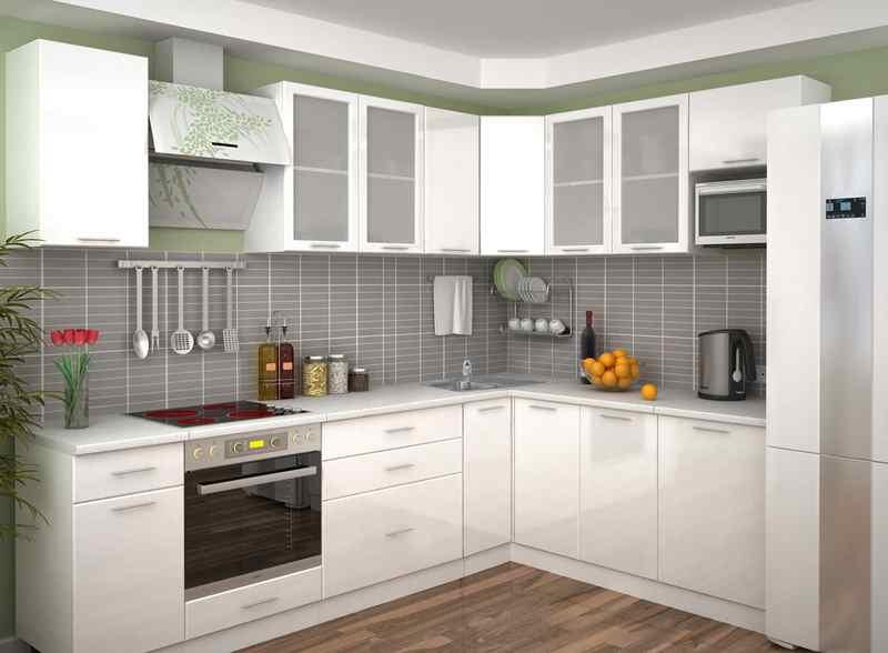 Кутові кухні на замовлення фото Кухні.IF-32