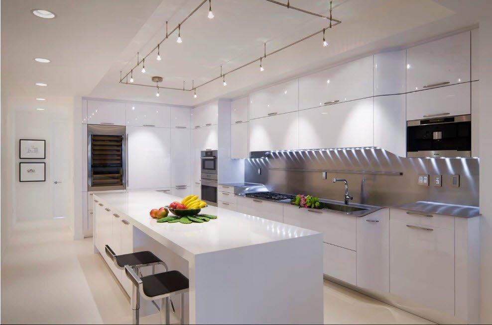 Модний інтер'єр кухні фото 13