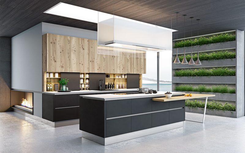 Модний інтер'єр кухні фото 14