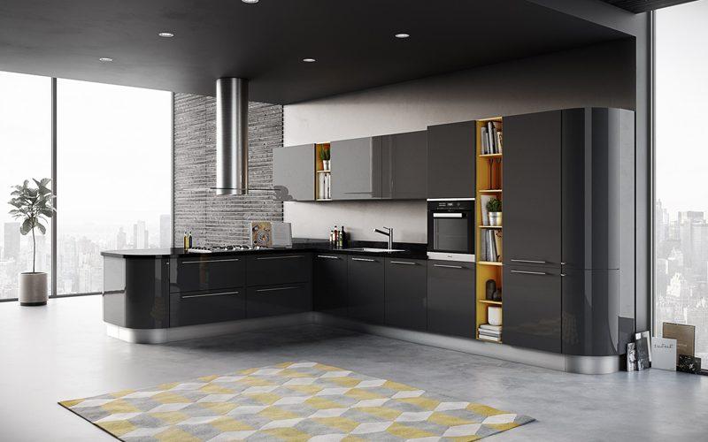 Модний інтер'єр кухні фото 15