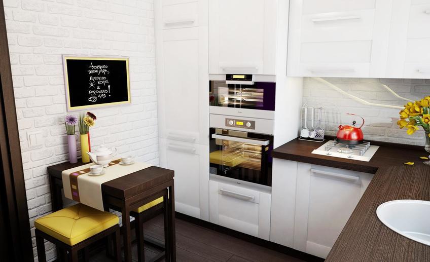 Модний інтер'єр кухні фото 16