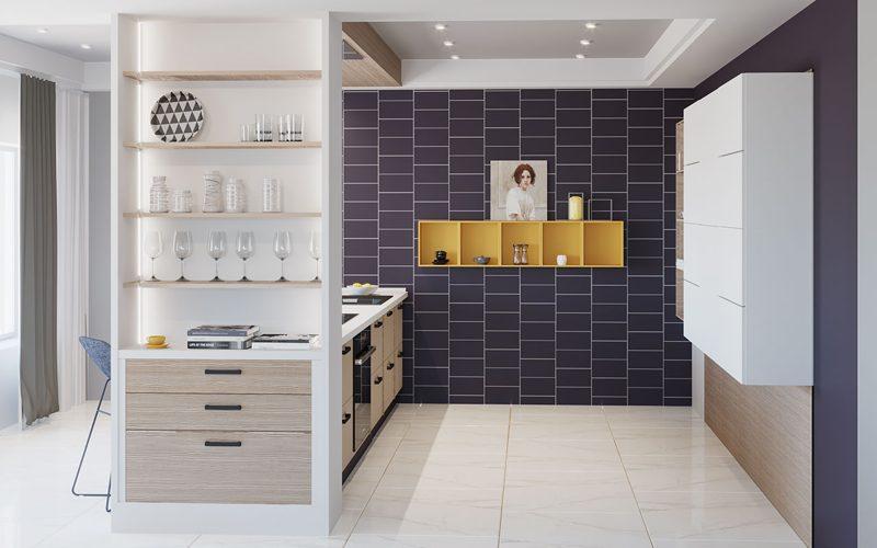 Модний інтер'єр кухні фото 17