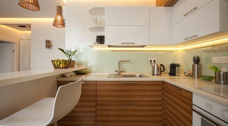 Модний інтер'єр кухні фото 21