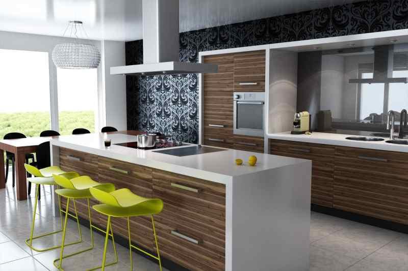 Модний інтер'єр кухні фото 22