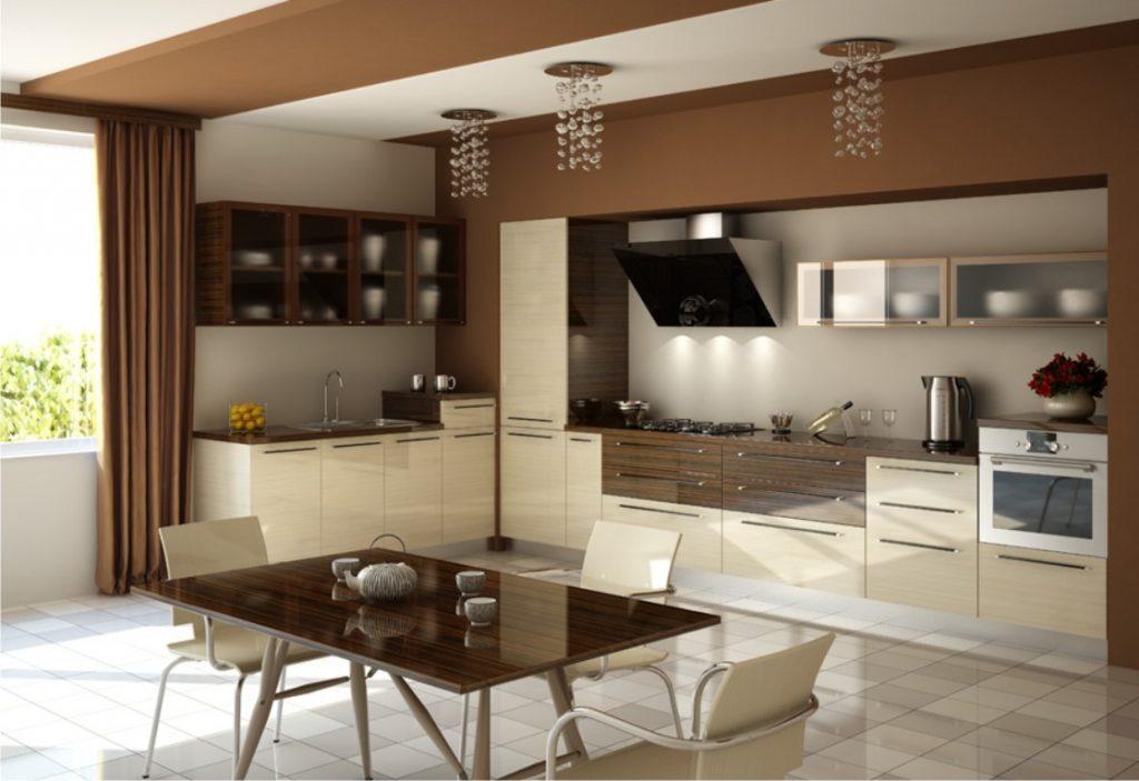 Модний інтер'єр кухні фото 39