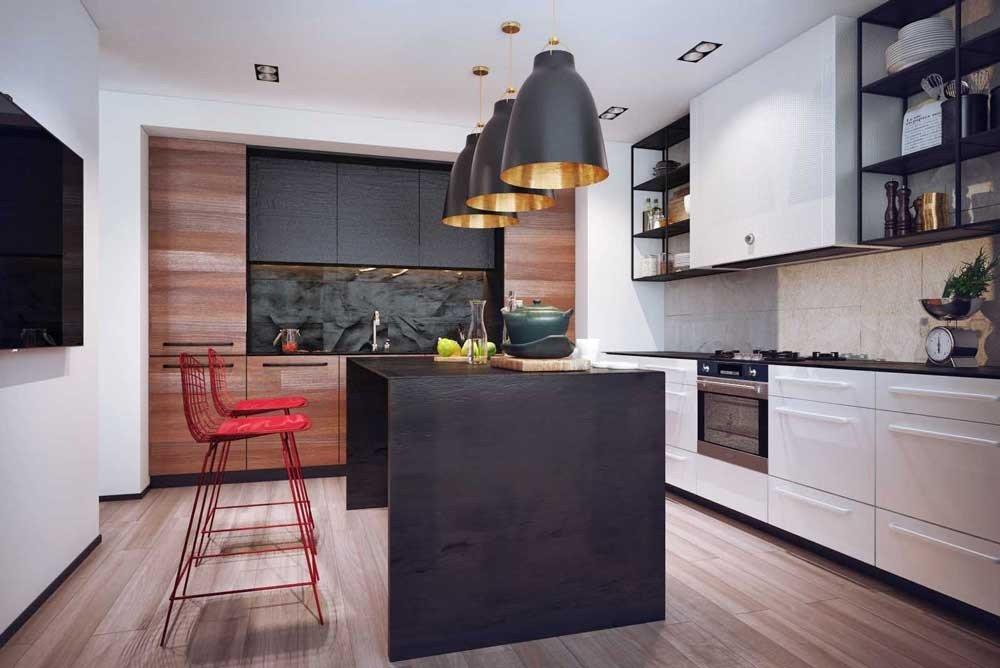 Модний інтер'єр кухні фото 4