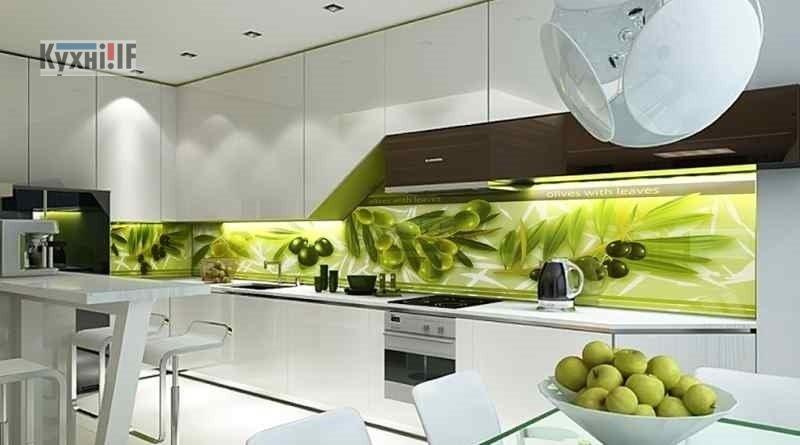 Фартух для кухні зі скла - скіналі фото 2