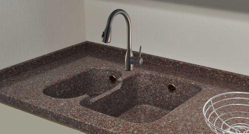 Мийки з штучного каменю фото Кухні.IF-9
