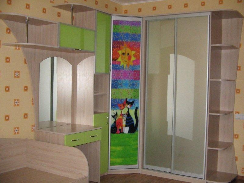 Дитячі шафи купе фото Кухні.IF 4