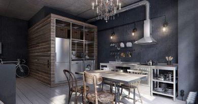 Кухня в Індустріальному стилі фото