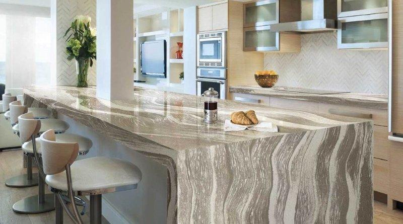 Стільниця з кварцового каменю Кухні.IF фото